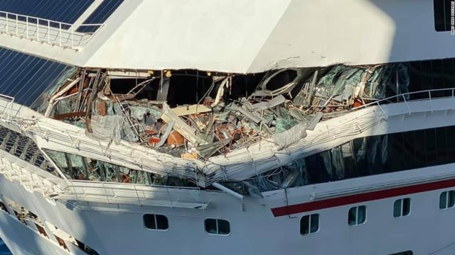 Carnival Glory is headed back to New Orleans after colliding with another cruise ship in Mexico