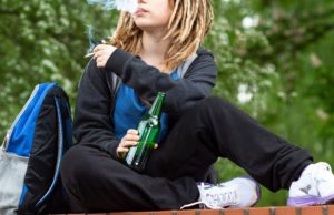 Pot smoking gains on booze as teens' favorite vice