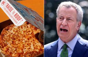 De Blasio rips Domino's over $30 New Year's Eve pizzas