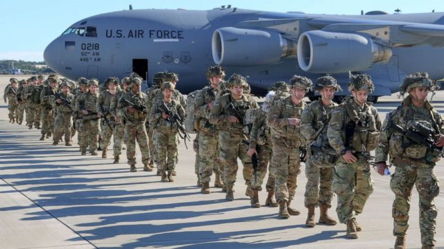 Pentagon to deploy roughly 3,500 more troops to Middle East with others placed on alert status, amid tensions with Iran