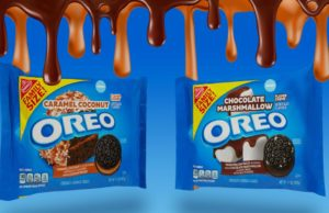 Oreo has two new flavors for the new year: Caramel Coconut and Chocolate Marshmallow