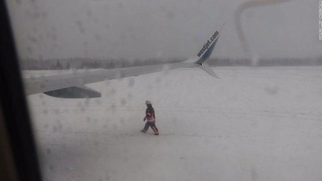 Canadian passenger plane slides off the runway