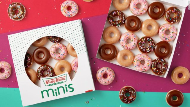 Krispy Kreme is rolling out a mini version of their classic doughnuts