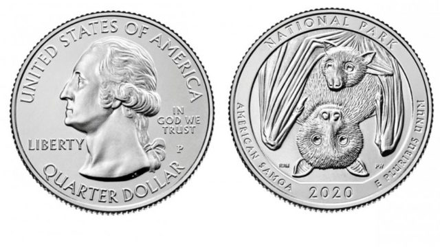 1st America the Beautiful quarters of 2020 features a fruit bat mother and her pup