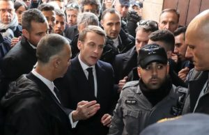 French President Emmanuel Macron loses his cool in argument with Israeli guards in Jerusalem