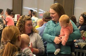 A woman was told to cover up at Chick-fil-A while nursing. To support her, moms held a breastfeeding sit-in