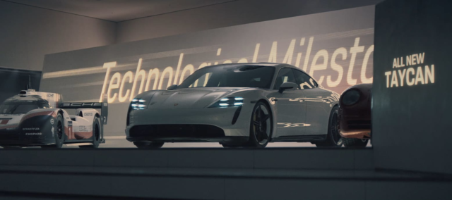 Porsche's first Super Bowl ad since 1997 features car chase with its all-electric Taycan