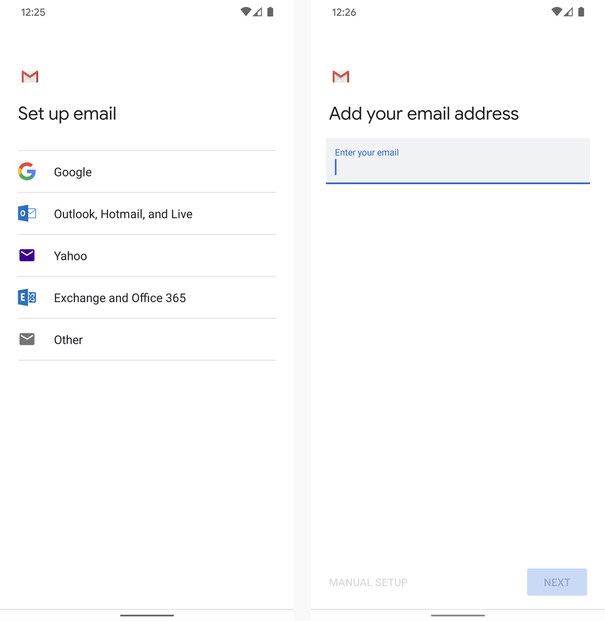 ios to android email setup 2020