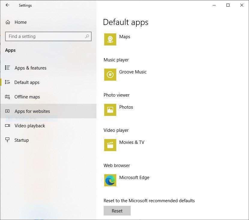 change edge default win10 2 default apps