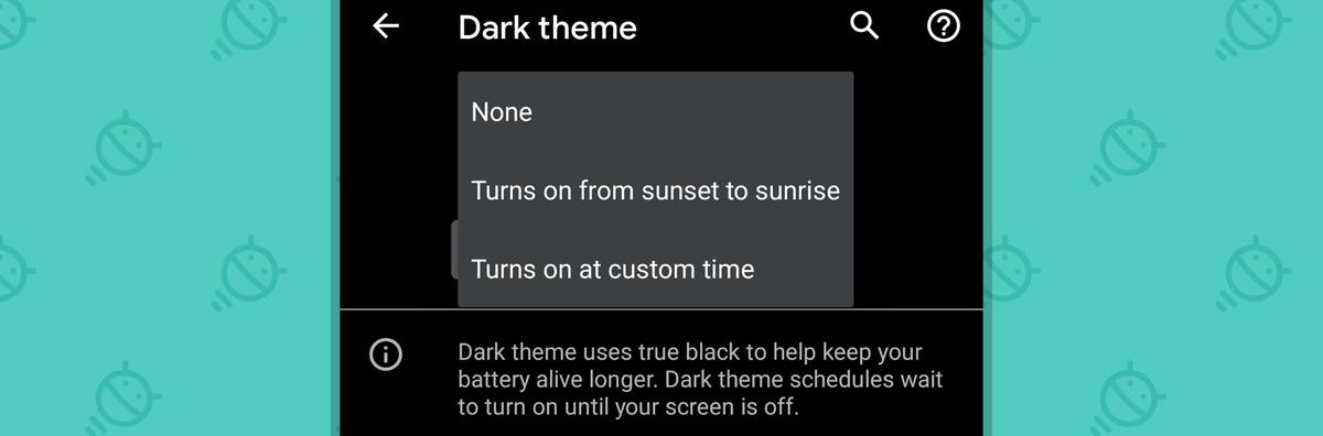 Android 11: Dark Theme Schedule