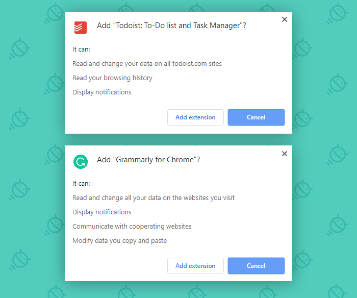 Chrome Security Setting: Extension Permissions