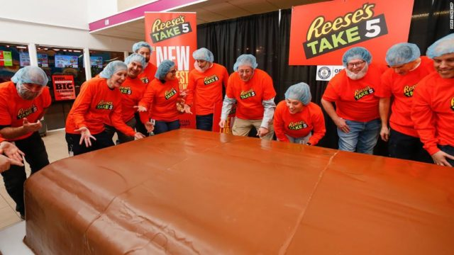 Reese's Take 5 just stole the record for the largest chocolate nut bar from Snickers