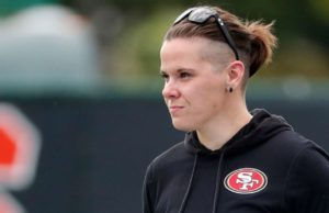 San Francisco 49ers' Katie Sowers becomes 1st female and 1st openly gay coach in Super Bowl history