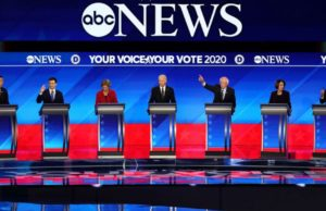 Who talked the most and the least in ABC News' Democratic debate