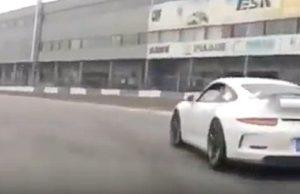 "Tesla Model 3 race car driver ""KOs"" Porsche 911 GT3 in China track battle"