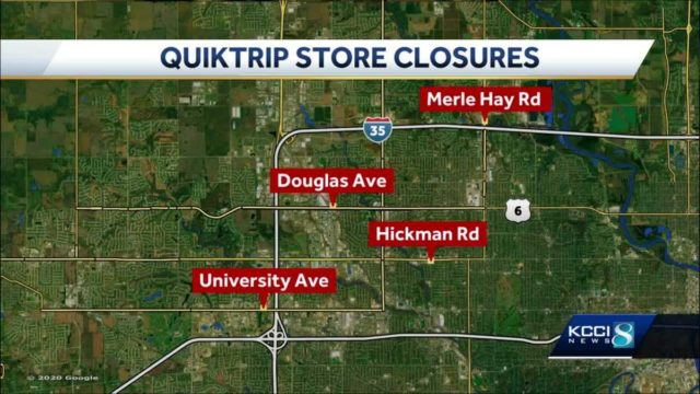 Hy-Vee to purchase 4 QuikTrip stores slated for closure
