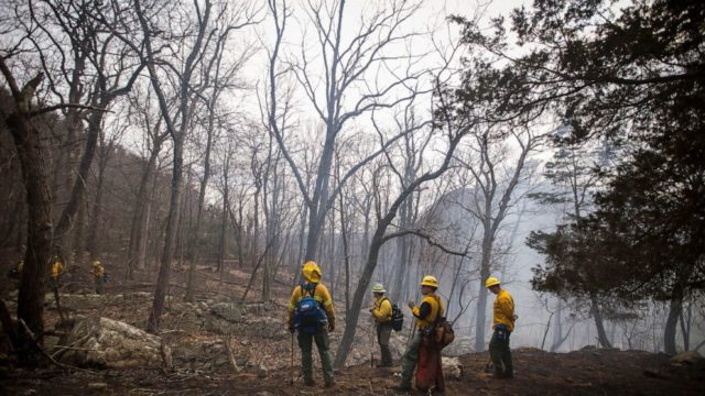 Forest fire near Appalachian Trail mostly contained