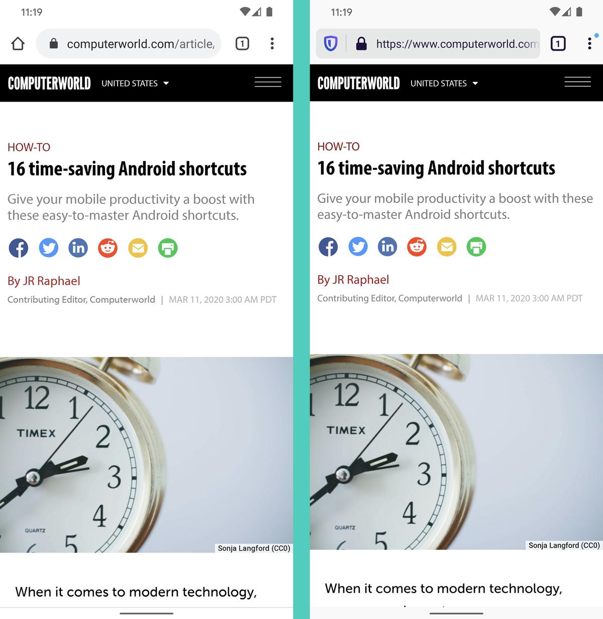 Chrome vs. Firefox Android