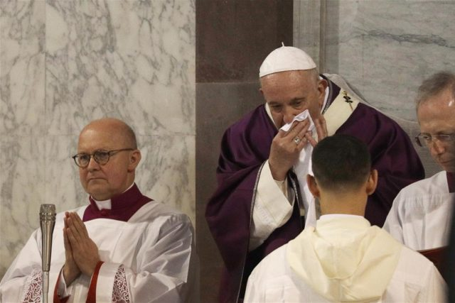 Pope Is Sick for Third Day After Supporting Coronavirus Sufferers