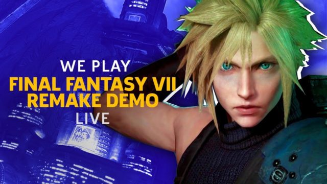 You Can Now Play The Final Fantasy VII Remake Demo On PS4!