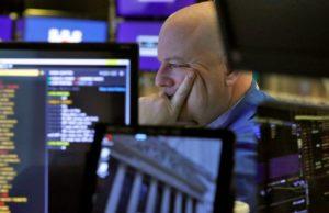 Stocks sink, bond yields take another breathtaking drop