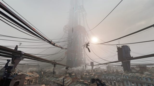 Player Climbs To The Top Of The Citadel In The Half-Life: Alyx Promo Area