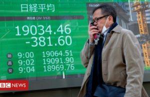 Coronavirus: Asian stocks fall as US imposes EU travel ban