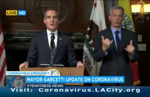 Garcetti orders closures of bars, gyms, theaters, in-person dining in restaurants to contain coronavirus -TV