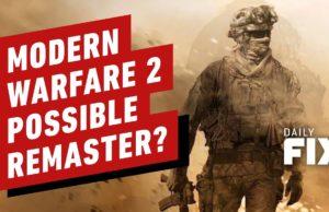 Call of Duty: Modern Warfare 2 Remaster On the Way?