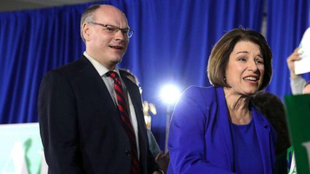 Sen. Amy Klobuchar shares update on husband, after he was hospitalized for coronavirus