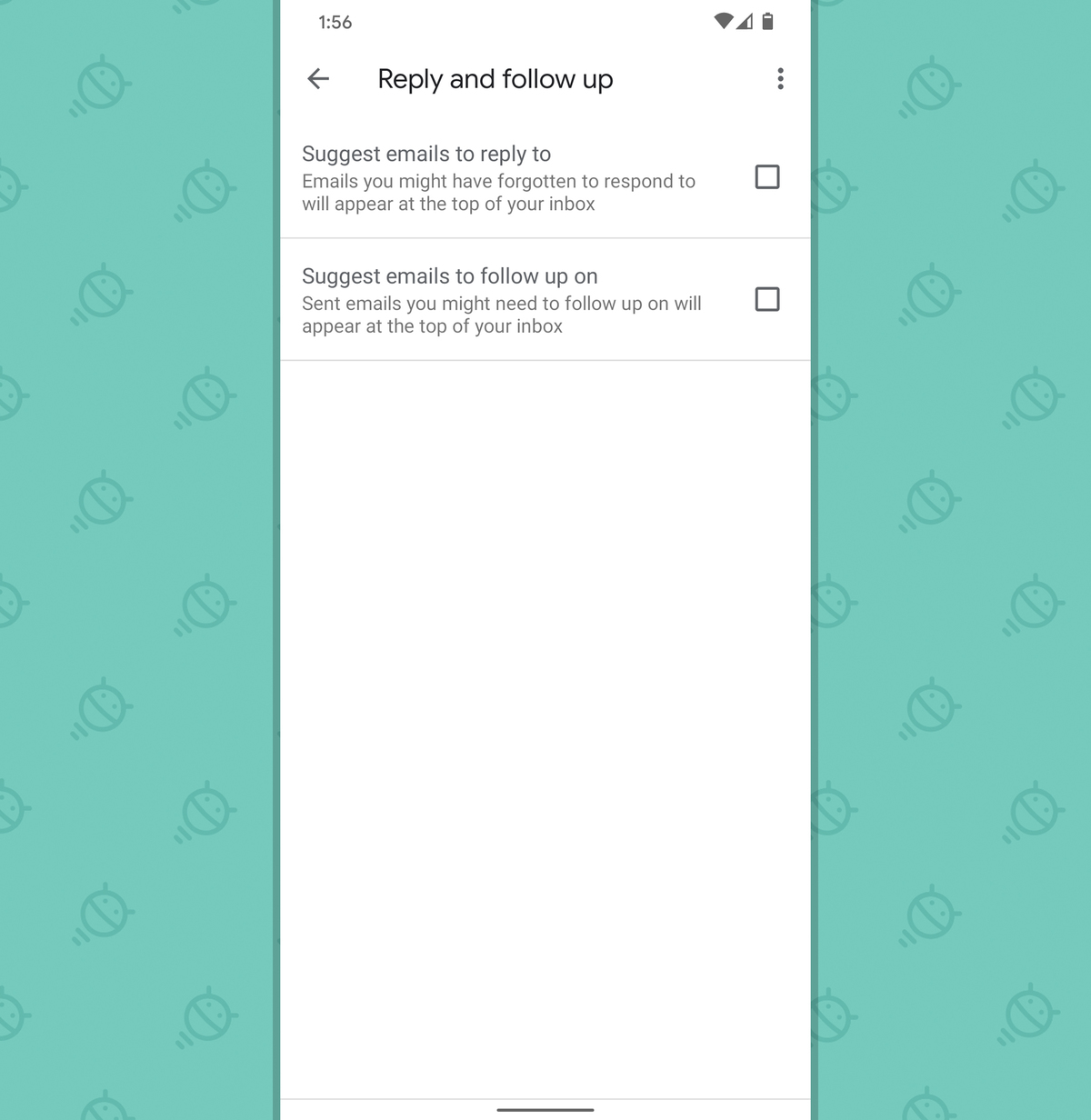 Gmail Android App: Nudges