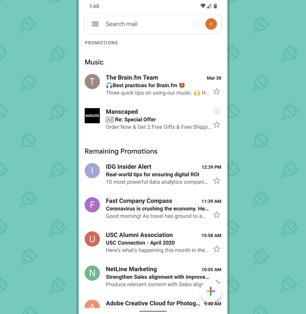Gmail Android App: Promotions