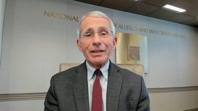 Fauci tells David Muir US return to normal will not be like a 'light switch' turned on