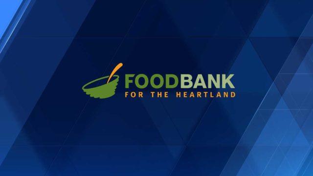 Drive-thru collecting food donations Saturday morning