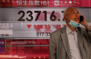 Markets drop in Asia on rising China-US tensions over virus