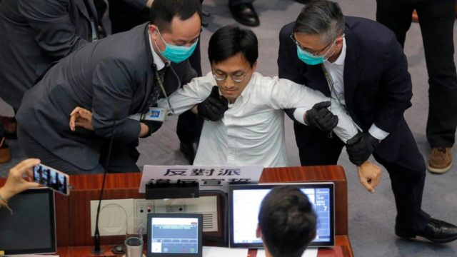 Scuffles break out in Hong Kong's legislature