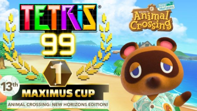 Reminder: Tetris 99's Limited-Time Animal Crossing: New Horizons Event Is Now Live