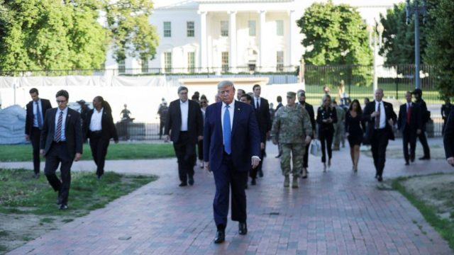 At fortified White House, Trump under verbal assault from military's top ranks