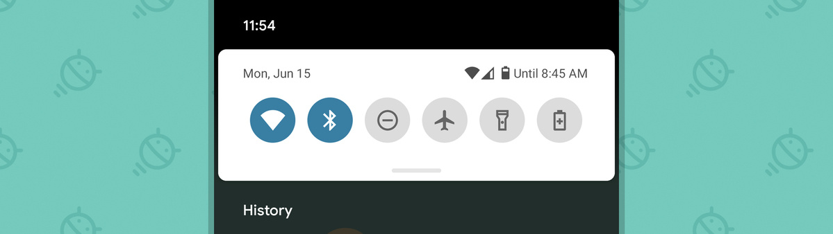 Android 11: Notification History command
