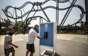 I spent a day at socially distant Six Flags –