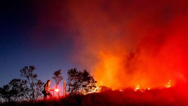 Severe weather expected in Plains as wildfires continue out West
