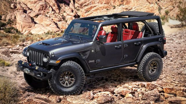V8-powered Jeep Wrangler crashes Ford Bronco's party