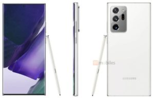 Check out the gorgeous white Galaxy Note 20 Ultra in this leaked render