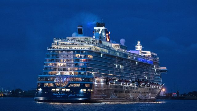 German cruise ship, Mein Schiff 2, sails with 1,200 people on board in first return voyage