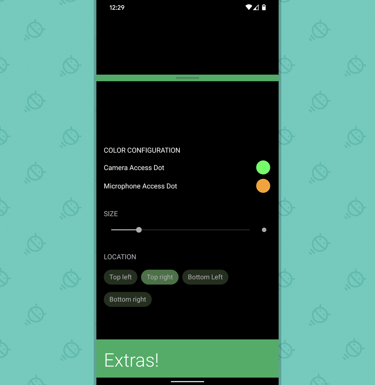 Android Privacy - Access Dots (4)