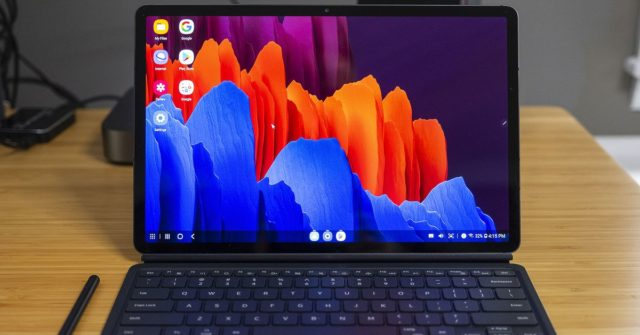 Samsung Galaxy Tab S7 Plus hands-on: killer screen, great sound, messy DeX