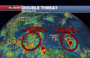 Latest NHC forecast predicts 2 hurricanes in Gulf of Mexico at same time next week