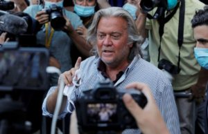 Steve Bannon calls his arrest 'a political hit job,' says effort was in support of Trump