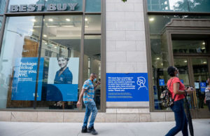 Best Buy says online sales in U.S. surged 242% in second quarter, but shares slide as gains may be short-lived