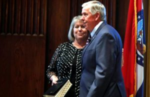 Wife of Missouri governor tests positive for COVID-19